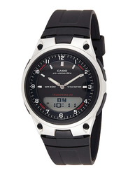 Casio Analog/Digital Quartz Unisex Watch with Resin Band, Water Resistant, AW-80-1A, Black