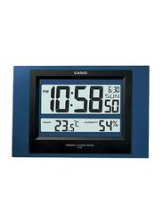 Casio Digital Wall Clock, Blue