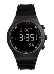 Al Fajr Sport Youth Prayer Digital Unisex Watch with Rubber Band, Water Resistant, WY-16, Black