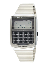 Casio Digital Unisex Watch with Stainless Steel Band, Water Resistant, CA-506-1DF, Silver-Multicolour