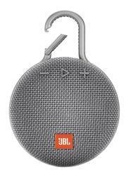 JBL Clip 3 IPX7 Waterproof Portable Wireless Bluetooth Speaker, Grey