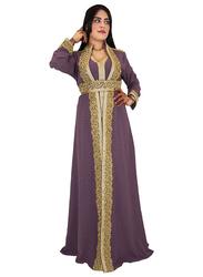 Ali Saif Arabic Traditional Dress for Women, Small, Purple