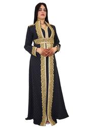 Ali Saif Arabic Traditional Dress for Women, Small, Black