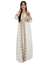 Ali Saif Arabic Traditional Dress for Women, Extra Large, Beige