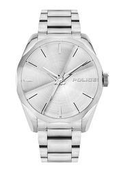 Police Raglan Analog Watch for Men with Stainless Steel Band, Water Resistant, P 15712JS, Silver