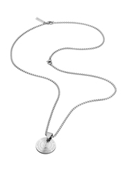 Police Pontevedra Stainless Steel Pendant Necklace for Men, Silver