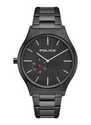 Police Orkneys Analog Watch for Men with Stainless Steel Band, Water Resistant, P 15965JS, Black