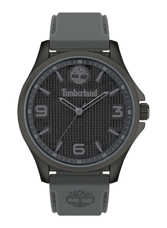 Timberland Averton Analog Watch for Men with Silicone Band, Water Resistant, T TBL15947JYU-13P, Grey