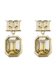 Escada Gold Plated Drop & Dangle Earrings for Women with Diamond Stone, Gold