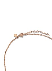 Cerruti 1881 Stainless Steel Pendant Necklace with Swarovski Stone for Women, Rose Gold