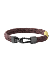 Police Skardu Stainless Steel Omega Bracelet for Men, Brown