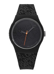 Superdry Urban Analog Watch for Men with Silicone Strap, Water Resistant, T SDWSYG169, Black