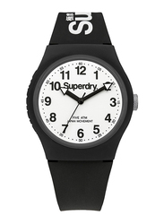 Superdry Urban Analog Watch Unisex with Silicone Band, Water Resistant, T SDWSYG164BW, Black-White