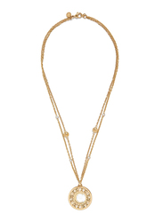 Cerruti 1881 Stainless Steel Multi-Strand/Chain Necklace with Swarovski Stone for Women, Gold