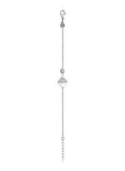 Cerruti 1881 Silver Chain Bracelet for Women, With Ceramic Stone and Swarovski Crystals, Silver