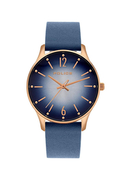 Police Makati Analog Leather Watch for Women, Water Resistant, Blue, P 15574MSR-03