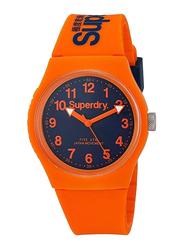 Superdry Urban Analog Rubber Watch for Unisex, Water Resistant, Orange-Black, T SDWSYG164O