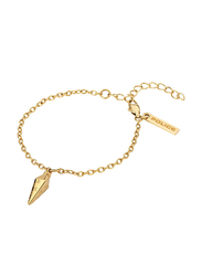 Police Stiletto Stainless Steel Pendant Necklace for Women, Gold
