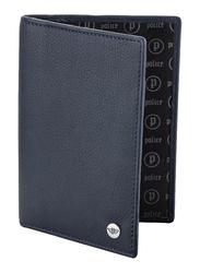 Police Pass Leather Bi-Fold Wallet for Men, PA40114WL, Blue