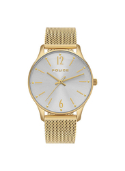 Police Makati Analog Metal Watch for Women, Water Resistant, Gold-Silver, P 15574MSG-04MM