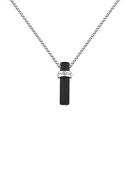 Police Loggas Stainless Steel Pendant Necklace for Men, Silver