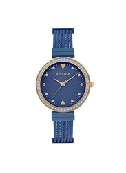 Police Yakima Analog Metal Watch for Women, Water Resistant, Blue, P 15575BSTR-03MBL