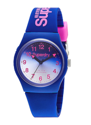 Superdry Urban Analog Watch Unisex with Silicone Band, Water Resistant, T SDWSYG198UU, Blue-Blue/White