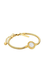 Police Metal Chain Bracelet with Pearl for Women, Gold Plated