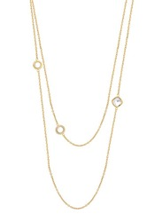 Cerruti 1881 Stainless Steel Charm Necklace with Swarovski Stone for Women, Rose Gold