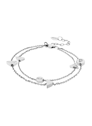 Police Paria Stainless Steel Chain Bracelet for Women, Silver