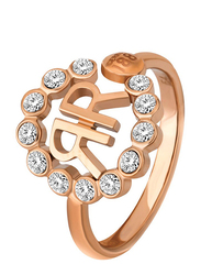 Cerruti 1881 Fashion Ring for Women, Rose Gold, EU 56