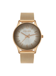 Police Makati Analog Metal Watch for Women, Water Resistant, Rose Gold-Silver, P 15574MSR-04MM