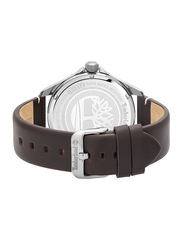 Timberland Swampscott Quartz Analog Watch for Men with Leather Band, Water Resistant, T TBL15941JYUK-53, Dark Brown-Khaki