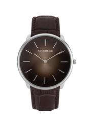 Cerruti 1881 Aldeno Leather Watch for Men, Water Resistant, Brown, C CRWA24503