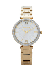 Police Chiba Metal Watch for Women, Water Resistant, Gold-Silver, P 15568BSG-04M
