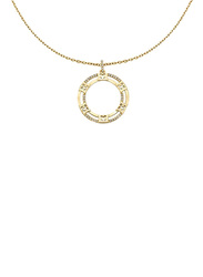 Escada Stainless Steel Pendant Necklace with Swarovski Stone for Women, Gold