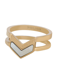 Police Cocktail Ring for Women, Gold, EU 56