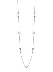 Cerruti 1881 Stainless Steel Charm Necklace with Swarovski Stone for Women, Silver
