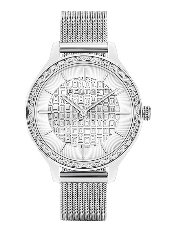 Police Cocora Analog Watch for Women with Mesh Band, Water Resistant, P 15689BS-04MM, Silver