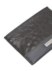 Police Tolerance Leather Card Case for Men, Black