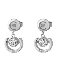 Cerruti 1881 Silver Drop & Dangle Earrings for Women with Diamond Stone, Silver