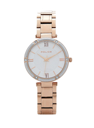 Police Chiba Metal Watch for Women, Water Resistant, Rose Gold-Silver, P 15568BSR-04M