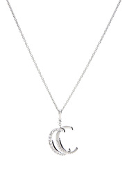 Cerruti 1881 Silver Pendant Necklace with Zircon Stone for Women, Silver