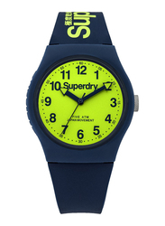 Superdry Urban Analog Watch Unisex with Silicone Band, Water Resistant, T SDWSYG164UN, Navy Blue-Green