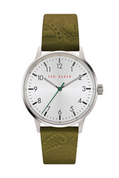 Ted Baker Cosmopolitan Men's Analog Watch with White Dial and Green Leather Strap - T TBKPCSF9093O