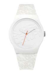 Superdry Urban Analog Watch for Men with Silicone Strap, Water Resistant, T SDWSYG169, Off White