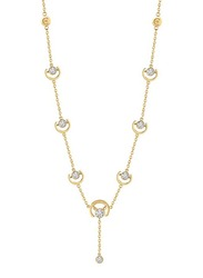 Cerruti 1881 Stainless Steel Charm Necklace with Crystal Stone for Women, Gold