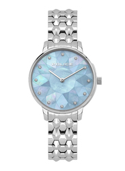 Police Chapada Analog Watch for Women with Stainless Steel Band, Water Resistant, P 15700LS, Silver-Blue