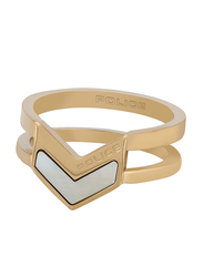 Police Cocktail Ring for Women, Gold, EU 54