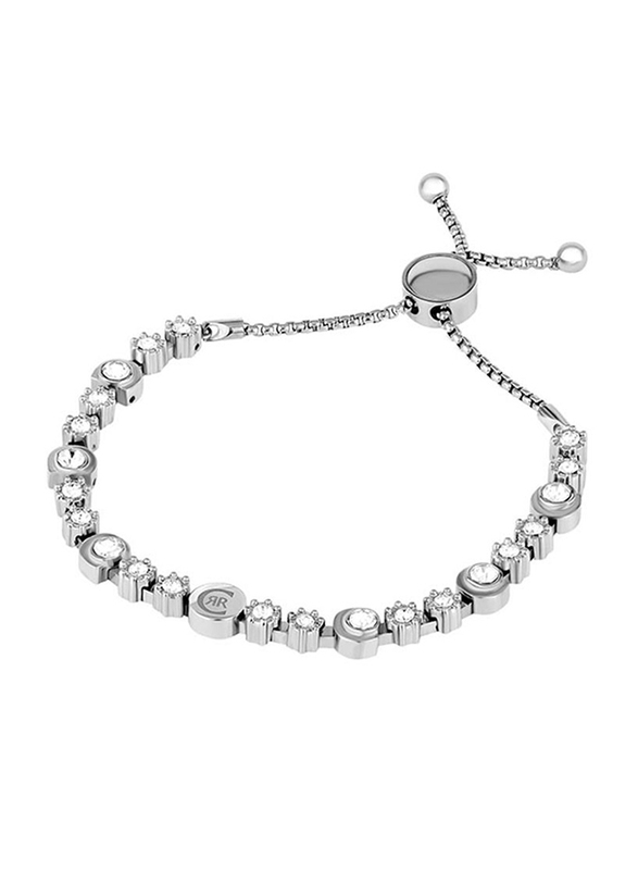 Cerruti 1881 Metal Designer Bracelet for Women, Silver